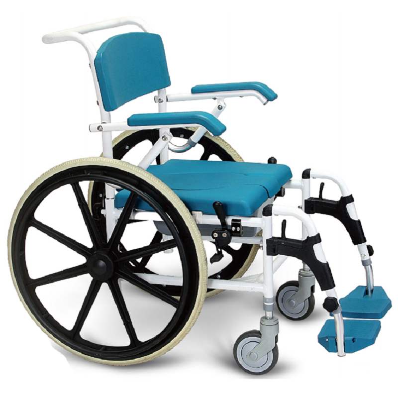 wheel chair with commode, bedside commode chair