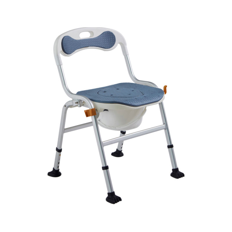 Aluminum Shower commode chair 2 in 1,muti-functional shower chair